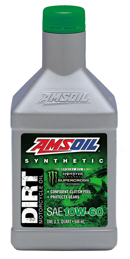 AMSOIL 10W-60 Synthetic Dirt Bike Oil 1 Quart / 946 ml