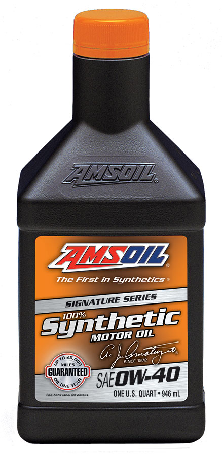 AMSOIL Signature Series 0W-40 Synthetic Motor Oil 1 Quart / 946 ml