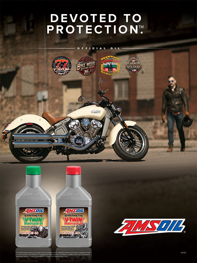 AMSOIL Indian Motorcycle Poster