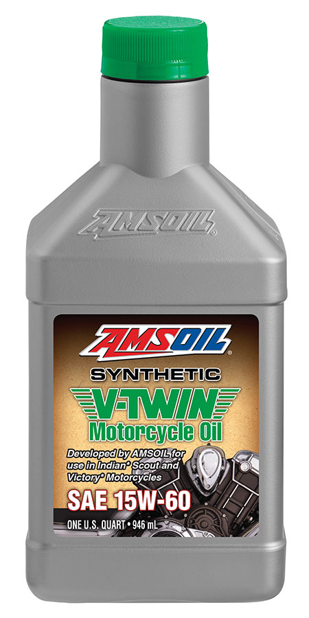 AMSOIL 15W-60 Synthetic V-Twin Motorcycle Oil 1 Quart / 946 ml