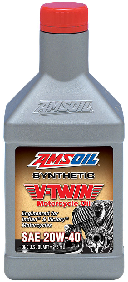 AMSOIL 20W-40 Synthetic V-Twin Motorcycle Oil 1 Quart / 946 ml