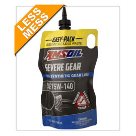 AMSOIL Severe Gear® 75W-140 Synthetic Gear Lube 1 Quart / 946 ml Easy Pack