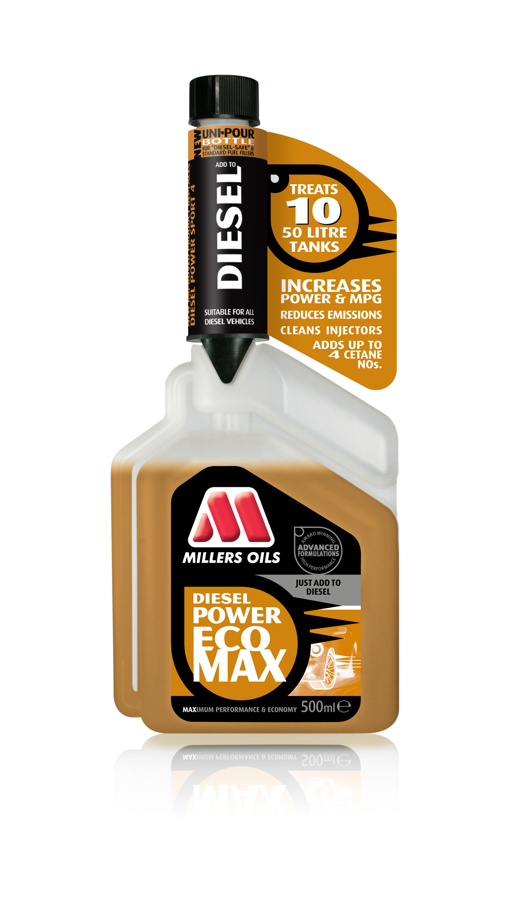 Millers Oils Diesel Power EcoMax, aditivace nafty 500 ml