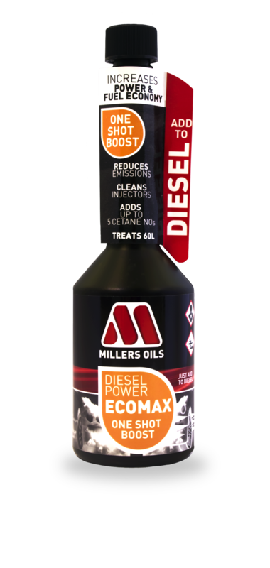 Millers Oils Diesel Power EcoMax - One Shot Boost, jednorázová aditivace nafty 250 ml
