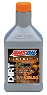 AMSOIL 10W-50 Synthetic Dirt Bike Oil 1 Quart / 946 ml