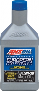 AMSOIL European Car Formula 5W-30 Improved ESP Synthetic Motor Oil 1 Quart / 946 ml
