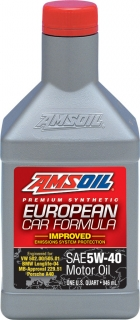 AMSOIL European Car Formula 5W-40 Improved ESP Synthetic Motor Oil 1 Quart / 946 ml