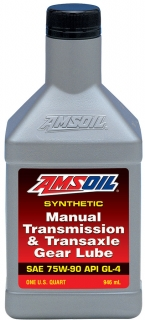 AMSOIL 75W-90 Manual Transmission & Transaxle Gear Lube 1 Quart / 946 ml